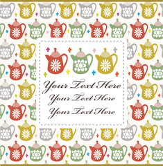 cartoon teapot card