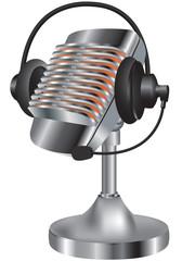 microfono con cuffia
