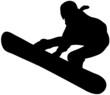 Icona di ragazza che pratica snowboard