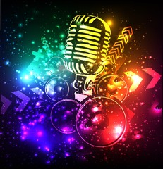 Microphone Space background