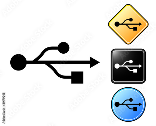 USB pictogram and signs