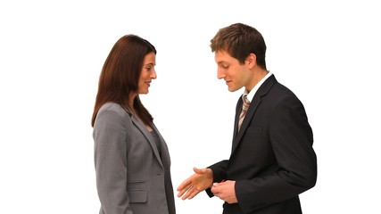 Agent giving keys to a businessman