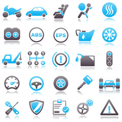 Automotive Blue Icons