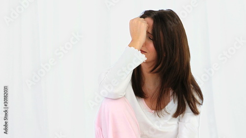 Mature woman crying