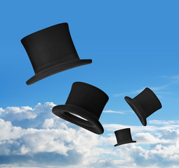 Top hats in air