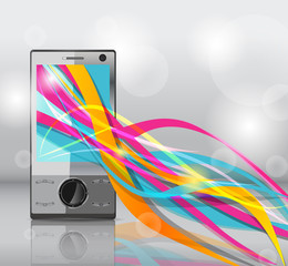 Mobile with bright lines