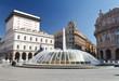 Leinwanddruck Bild - Piazza De Ferrari, Genova - De Ferrari square, Genoa, Italy