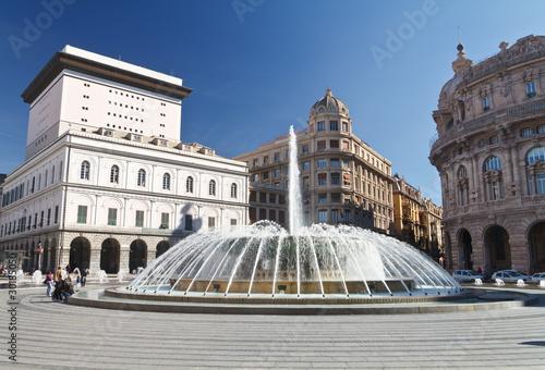 Foto op Aluminium Fontaine Piazza De Ferrari, Genova - De Ferrari square, Genoa, Italy