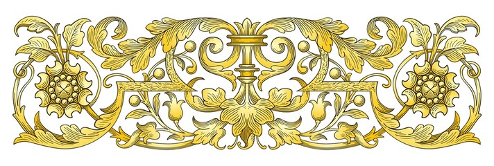 Gold Ornament Border vector
