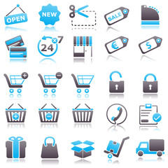 commerce Blue Icons