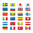 World Flags Icon Set on White background