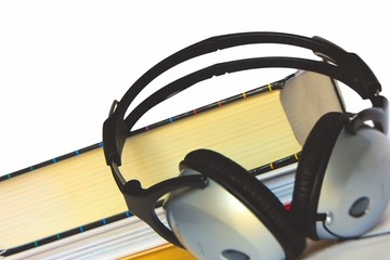 Books and headphone