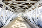 Fototapeta Perspektywa 3d - Groveton Covered Bridge (1852), New Hampshire, USA © PHB.cz