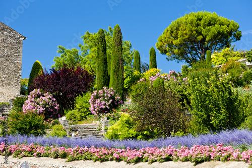 garden at Gordes, Provence, France
