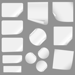 new realistic vector stickers with peeling corners