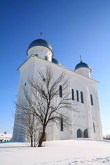 christian church on territory of the orthodox priory