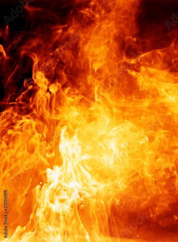 Fototapete Feuer - Flame - Brand - Poster Funke - Aufkleber