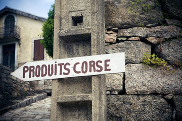 Corsican produce sign