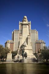 Don Quixote monument in Madrid