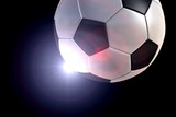 Soccerball with backlight and halo poster