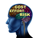 brain finance opportunity cost effort risk isolated poster