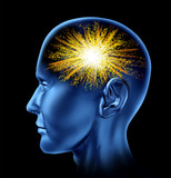 spark of genius brain head lobes cortex intelligence poster