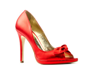 Elegant red women shoe