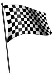 Bandiera a scacchi su fondo bianco