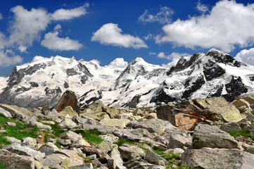 Monte Rosa and Breithorn  - Swiss Alps