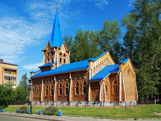 Wooden lutheran church in Tomsk, Russia