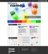 Website Template Network Rainbow