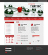 Website Template Network Red