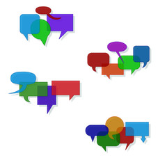Speech bubble groups vector