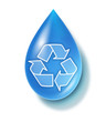 Clean water drop symbol