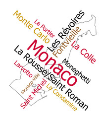 Monaco map and wards