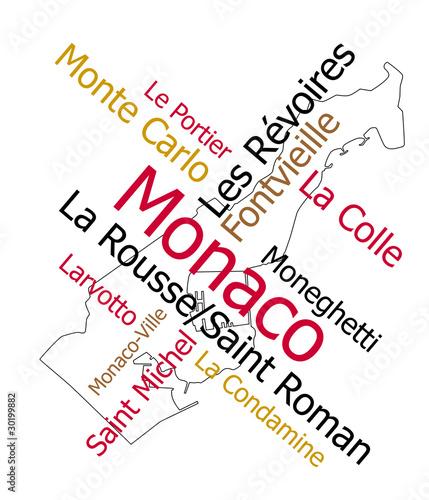 monaco map. Monaco map and wards