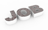 Challenging Job - conceptual image with a maze inside letters poster