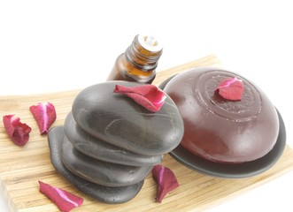 aromatic soap and spa stones