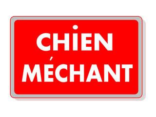 PANNEAU CHIEN MECHANT