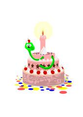 Wurm in der Torte