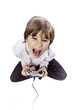 fou enfant console vidéo joystick manette