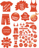 red shop stickers