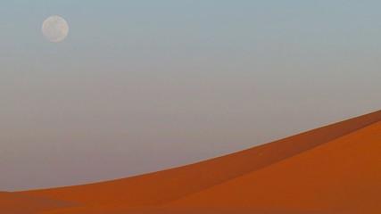 Deserto con luna piena