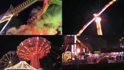 Fun at fairground - video montage