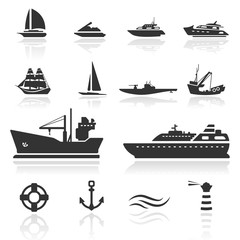 Icon set  Boats