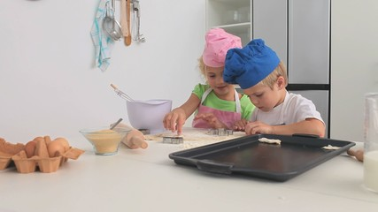 Adorable children cooking