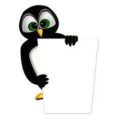 Le pingouin qui fait de la pub