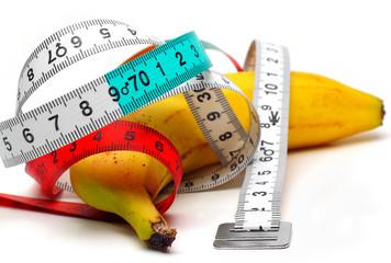 banane,régime,mètre,mensurations,diététique