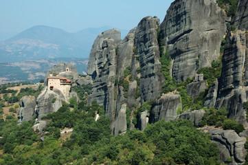 Meteora Agios Nikolaos Anapafsas rock monastery,Greece. Meteora