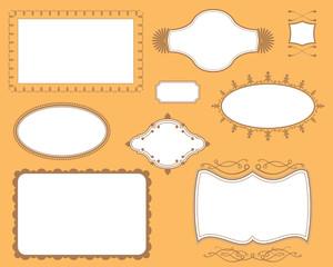 Book Cover Plates Frames Set